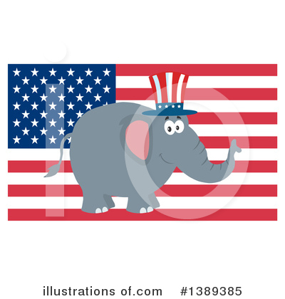 Republican Elephant Clipart #1389385 by Hit Toon