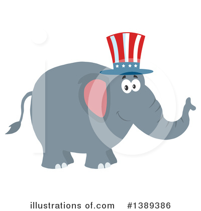 Republican Elephant Clipart #1389386 by Hit Toon
