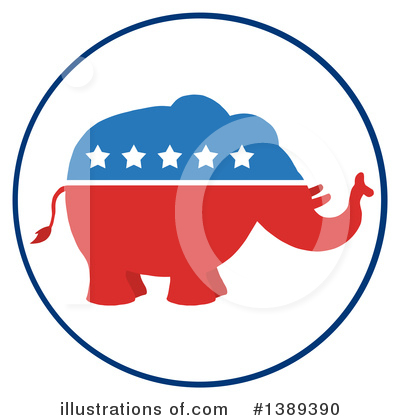 Republican Elephant Clipart #1389390 by Hit Toon