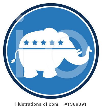 Republican Elephant Clipart #1389391 by Hit Toon