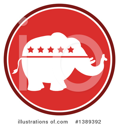 Republican Elephant Clipart #1389392 by Hit Toon