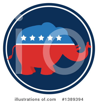 Republican Elephant Clipart #1389394 by Hit Toon