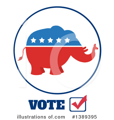 Republican Elephant Clipart #1389395 by Hit Toon