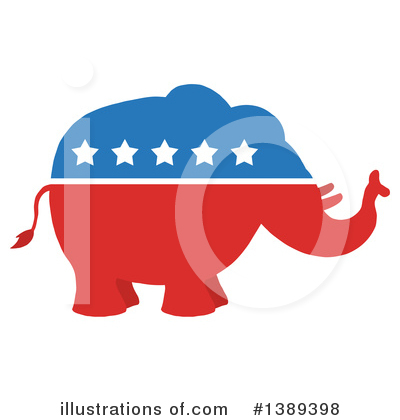 Royalty-Free (RF) Republican Elephant Clipart Illustration by Hit Toon - Stock Sample #1389398