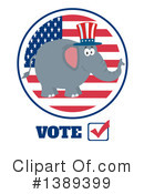 Republican Elephant Clipart #1389399 by Hit Toon
