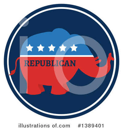 Republican Elephant Clipart #1389401 by Hit Toon
