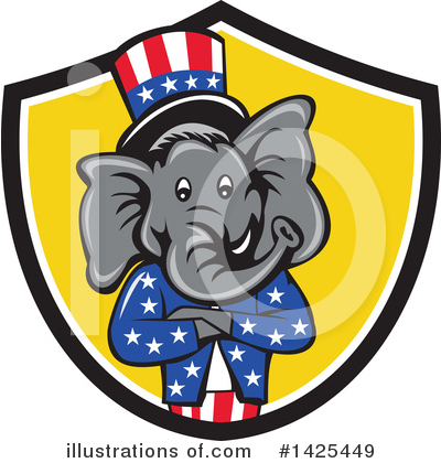 Elephant Clipart #1425449 by patrimonio