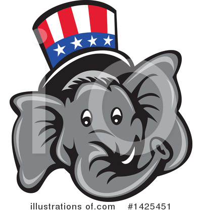 Republican Elephant Clipart #1425451 by patrimonio