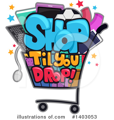 Shopping Cart Clipart #1403053 by BNP Design Studio