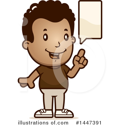 Retro Black Boy Clipart #1447391 by Cory Thoman