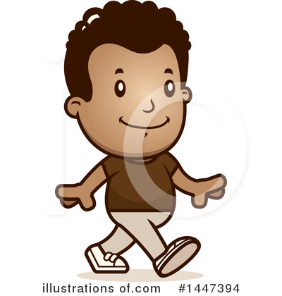 Retro Black Boy Clipart #1447394 by Cory Thoman