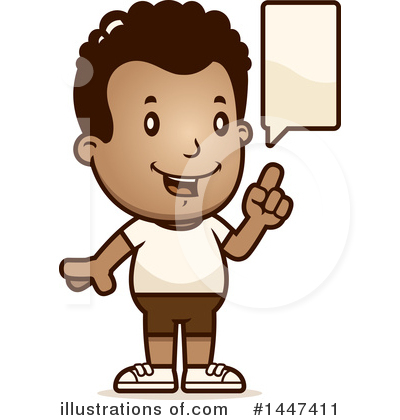 Retro Black Boy Clipart #1447411 by Cory Thoman