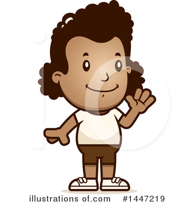 Black Girl Clipart #1447219 by Cory Thoman