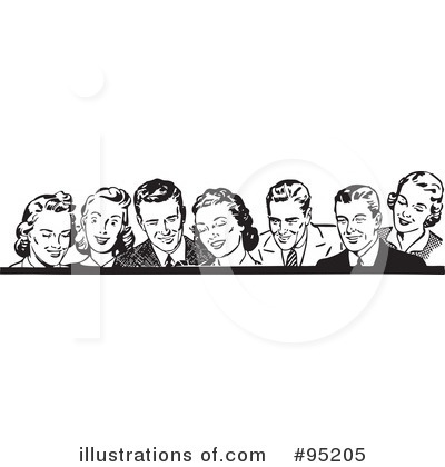 Royalty-Free (RF) Retro People Clipart Illustration by BestVector - Stock ...