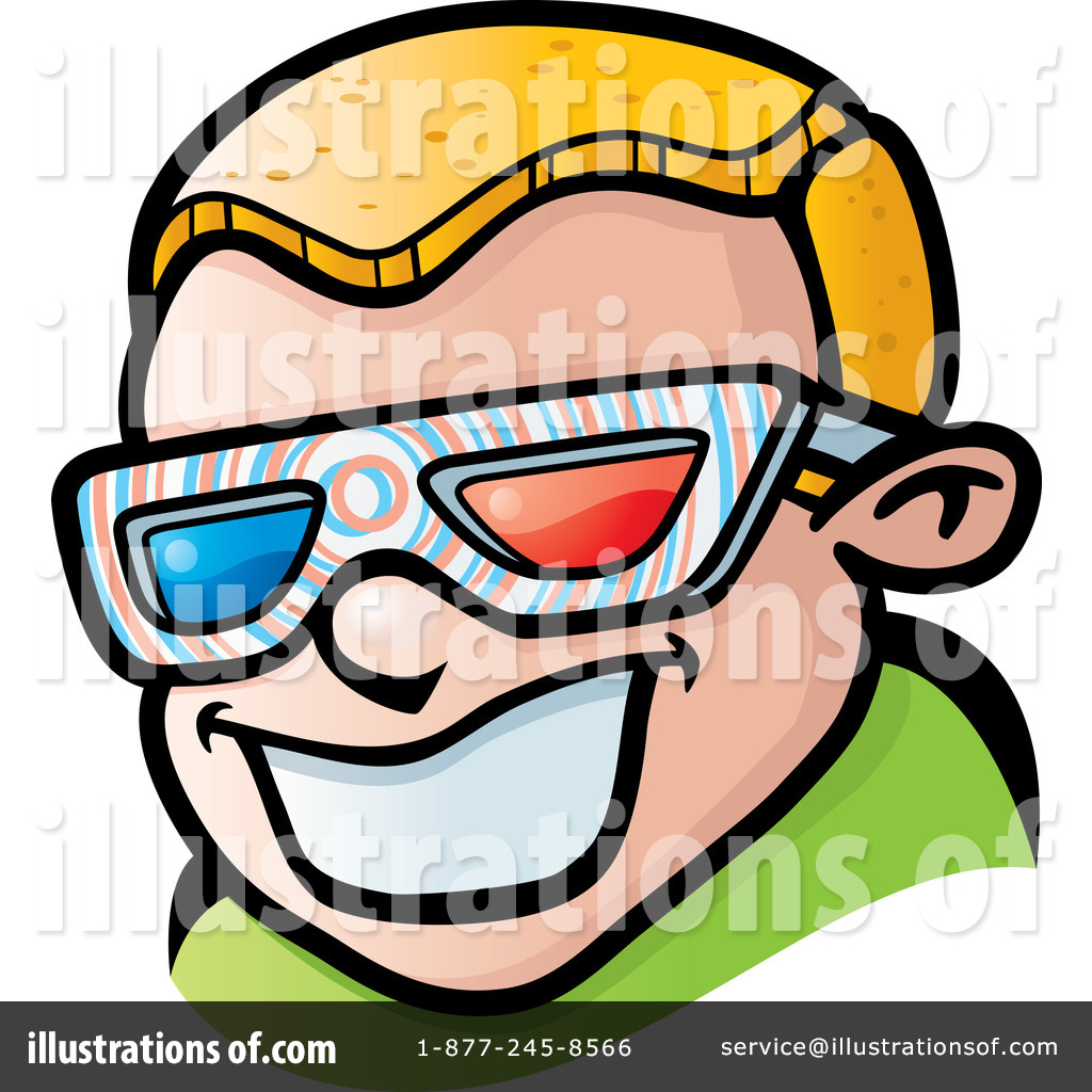3d Glasses Clipart #437184 - Illustration by Cory Thoman