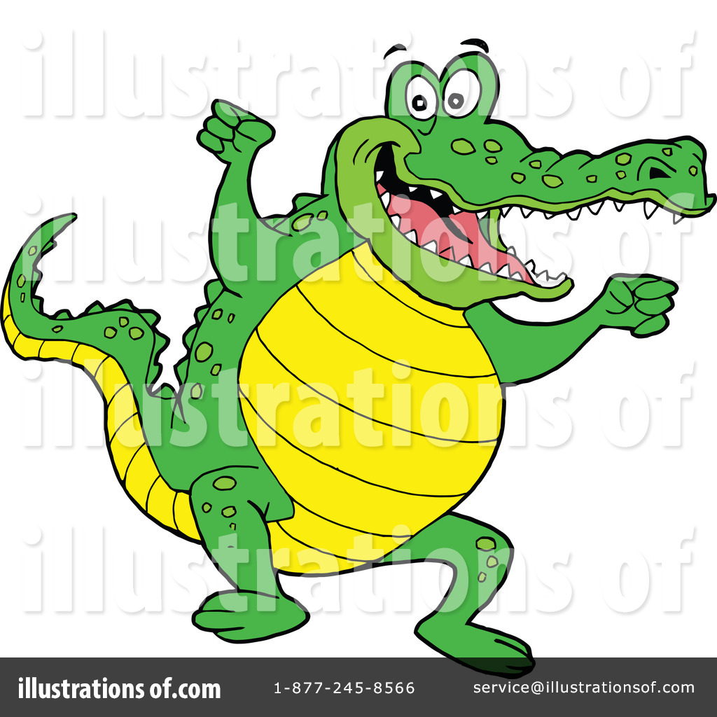 Royalty-Free (RF) Alligator Clipart Illustration by LaffToon - Stock ...