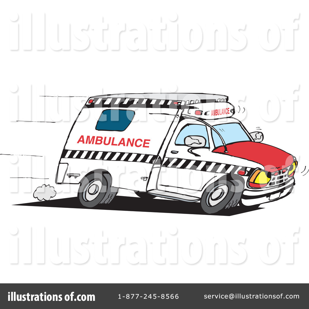Ambulance Clipart #42912 - Illustration by Dennis Holmes Designs