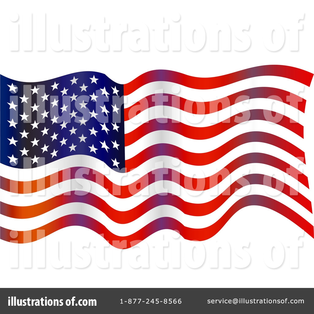 Royalty-Free (RF) American Flag Clipart Illustration by Prawny - Stock
