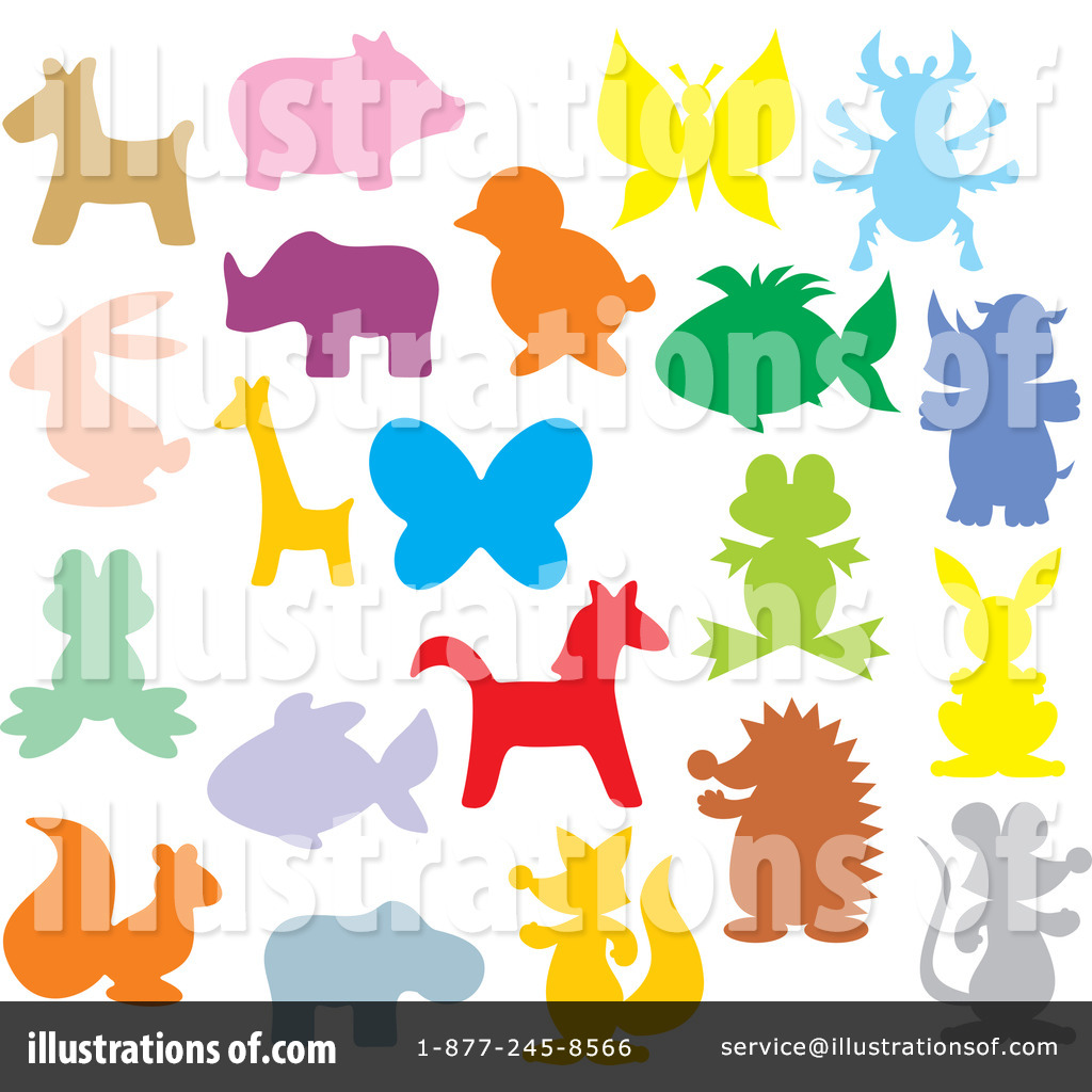 Simple Baby Animal Silhouettes Animal silhouette