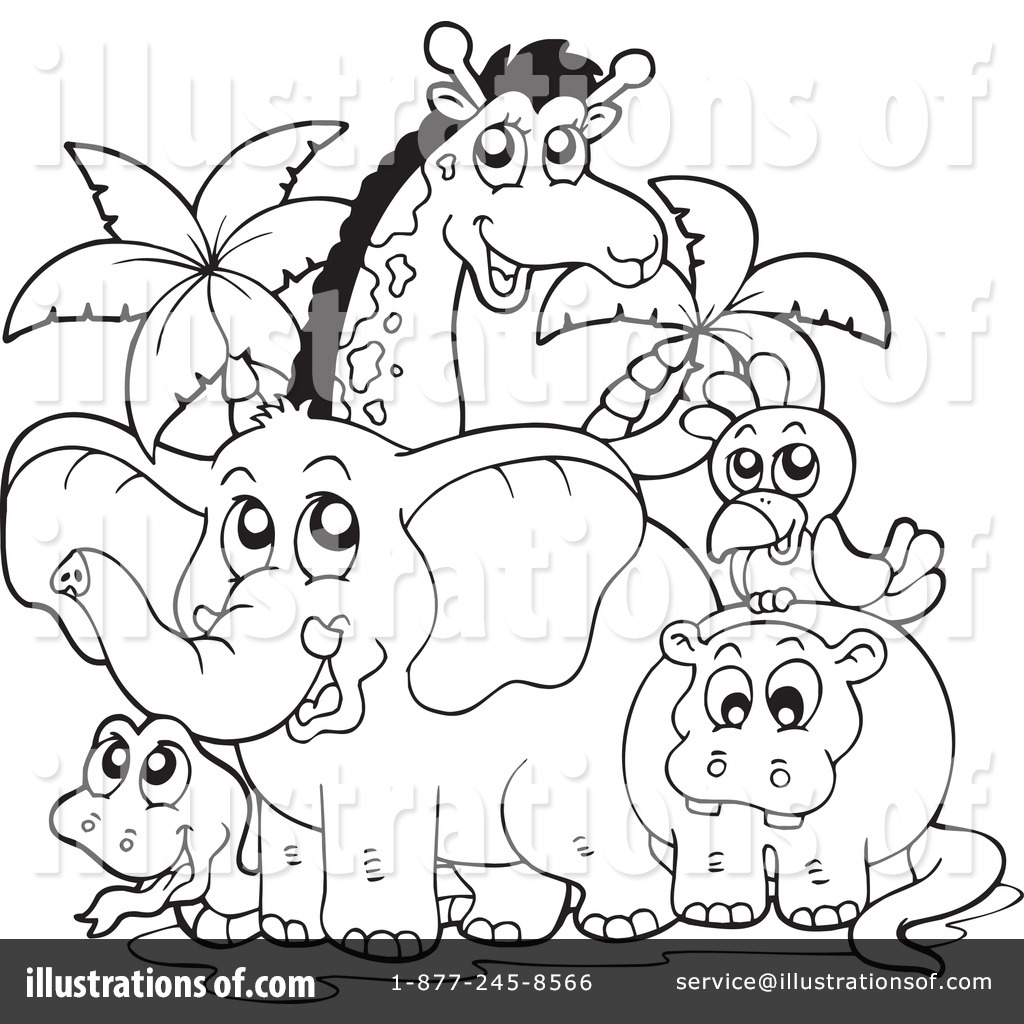 Royalty Free RF Animals Clipart Illustration by visekart Stock