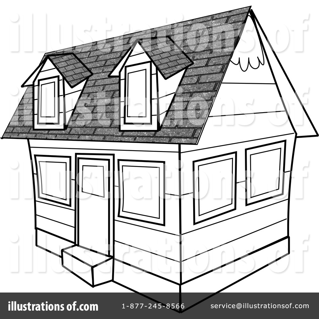 Architecture Clipart #4276 - Illustration by Dennis Cox