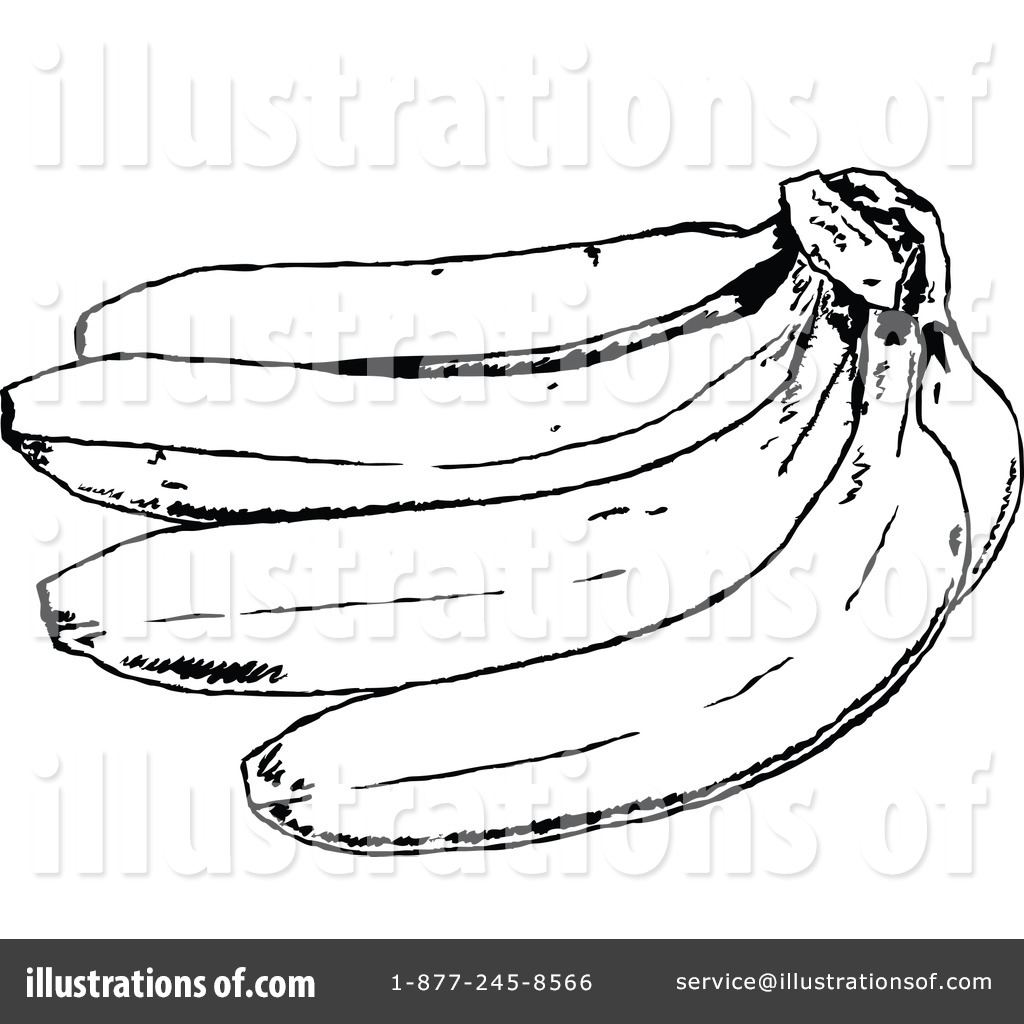 banana clipart black and white. royalty-free (rf) banana clipart illustration #66182 by prawny black and white e