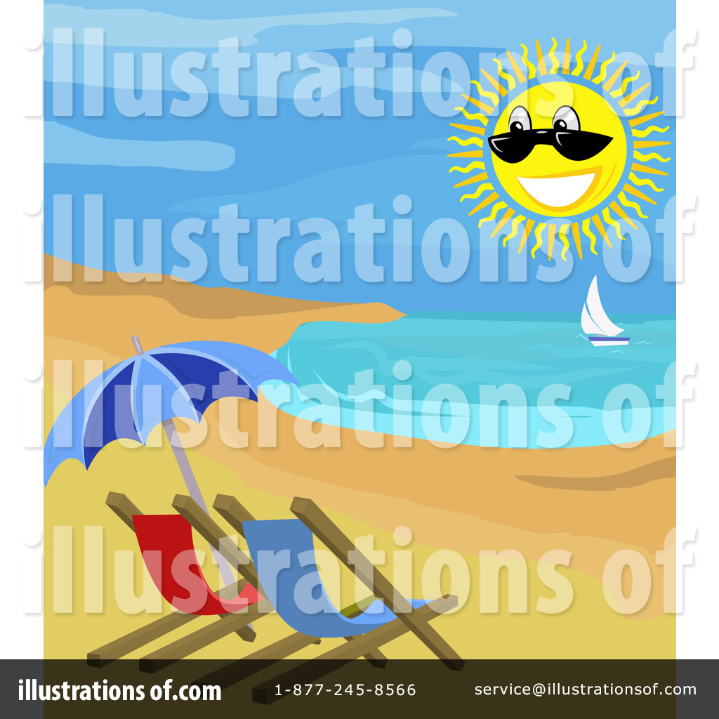 Royalty Free RF Beach Clipart Illustration 12021 By AtStockIllustration