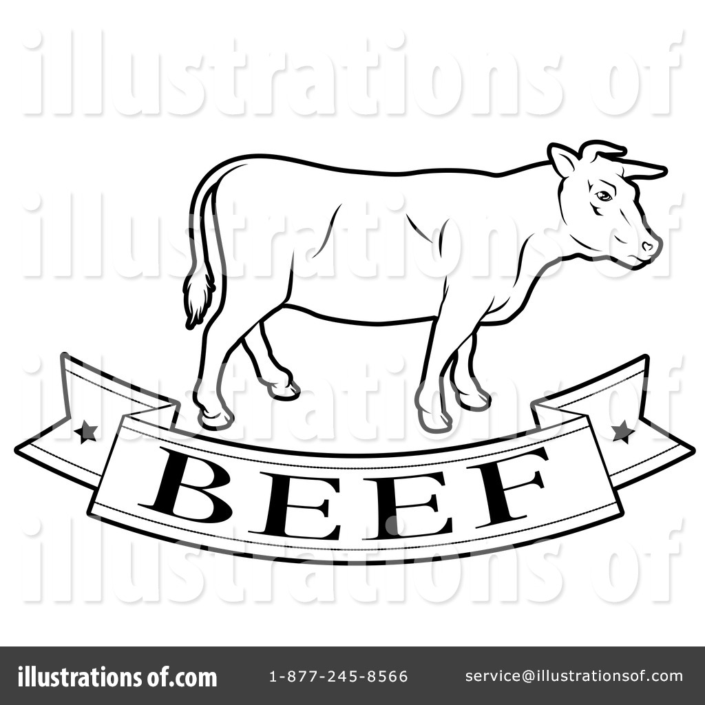 Beef Clipart #1248608 - Illustration by AtStockIllustration for Beef Clipart Black And White  174mzq