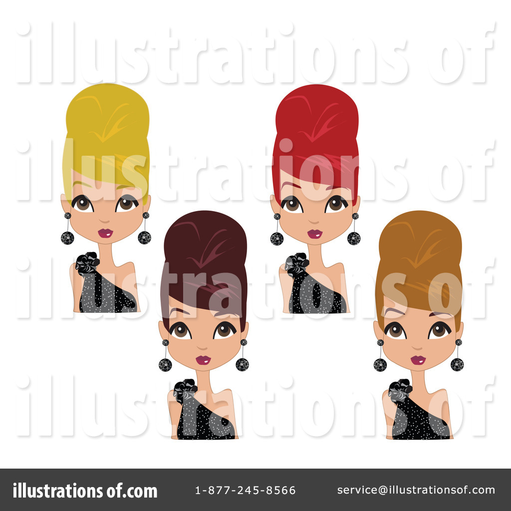 Free Female Clipart Image 0515-1003-2513-2416   Computer ...   Beehive Hairstyle Drawing