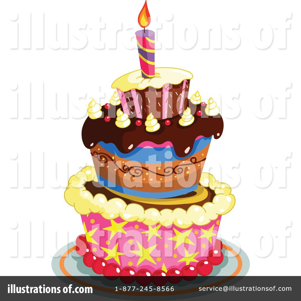 Royalty Free Birthday Images ~ Birthday cake clipart illustration by yayayoyo