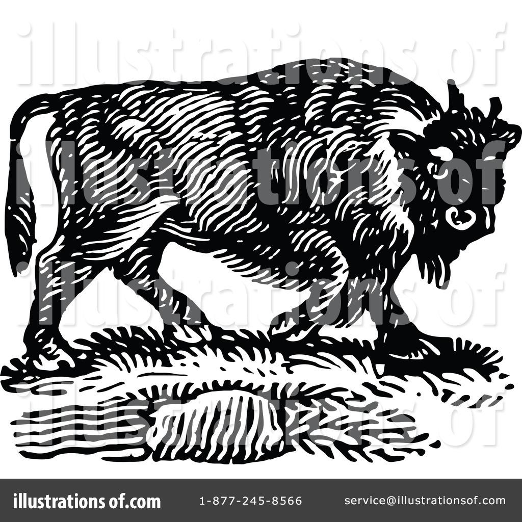 Bison Clipart #1131041 - Illustration by Prawny Vintage