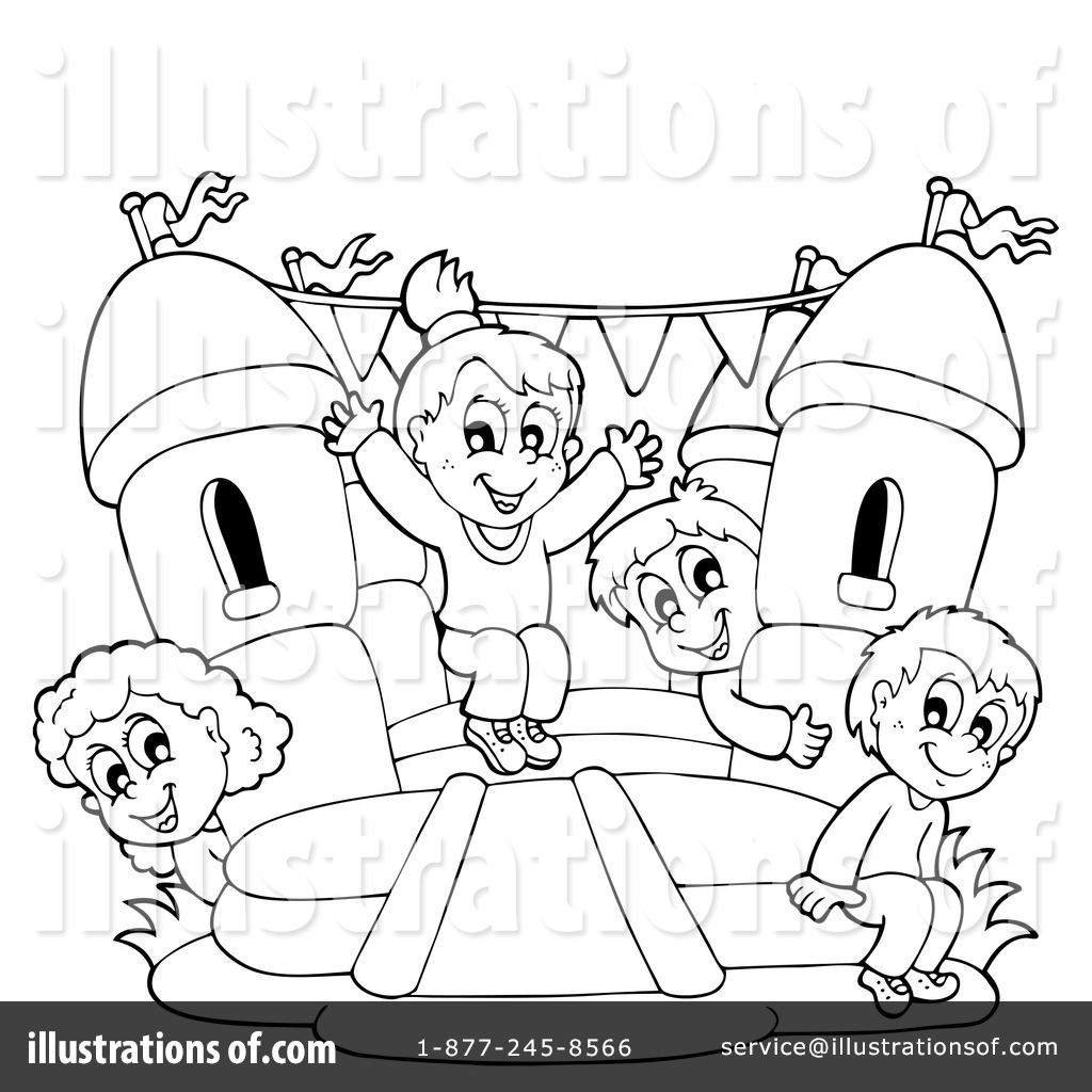 Free Coloring Pages Of Bouncy Castle