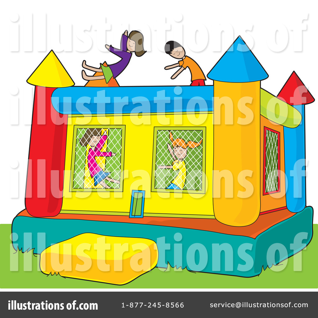 bouncy house clipart 33489 illustration by maria bell rh illustrationsof com jump house clipart bounce house clipart black and white