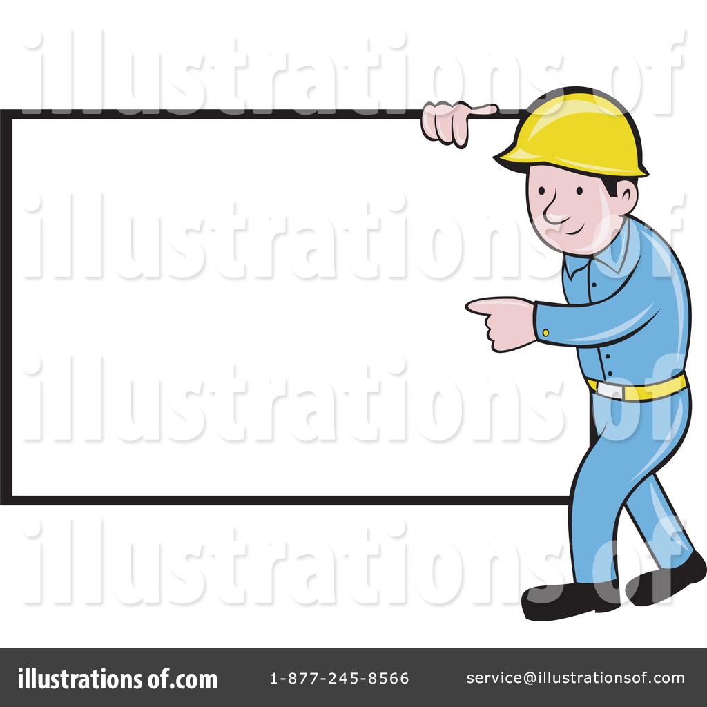Builder Clipart #1050333 - Illustration by patrimonio