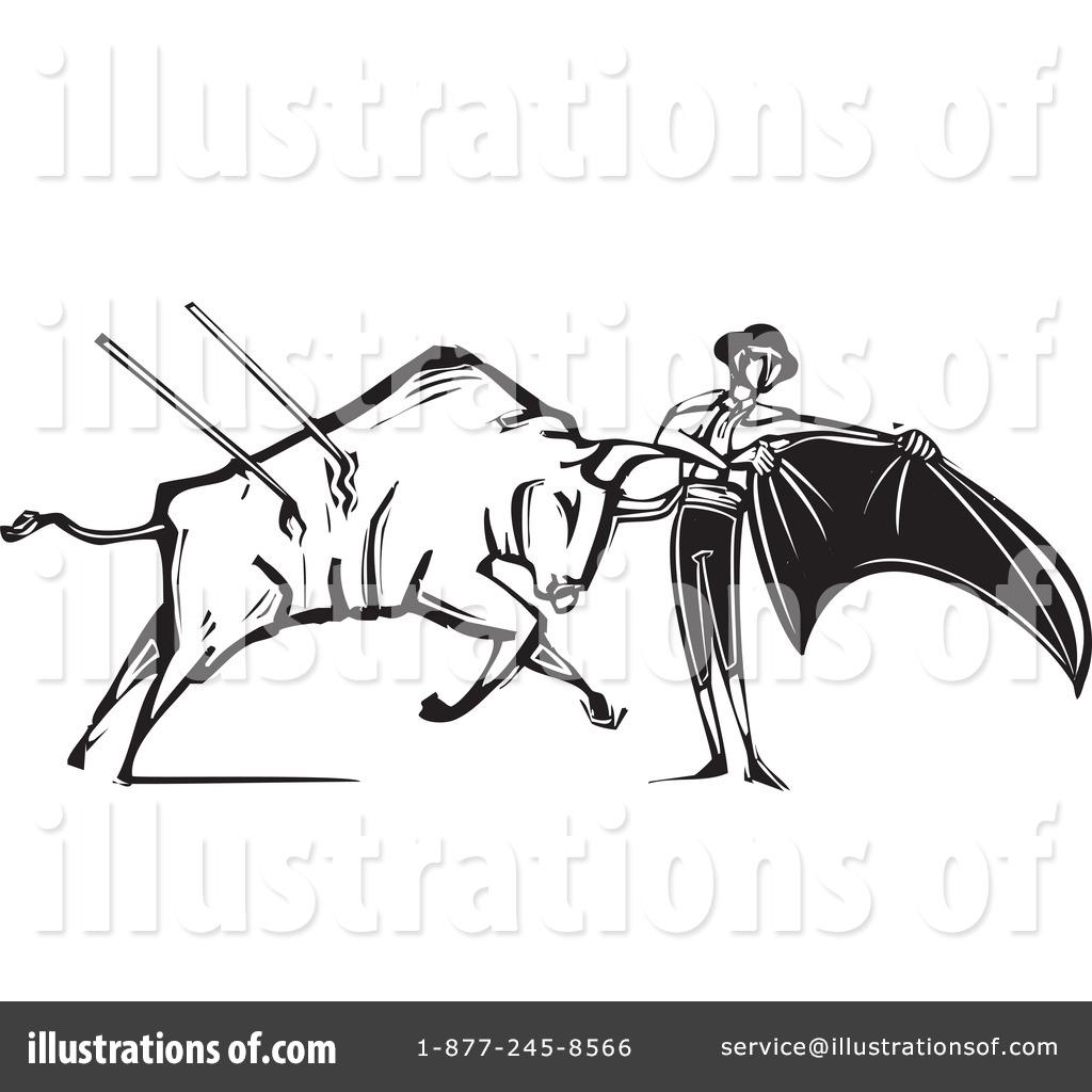 Bullfighting Clipart #1245229 - Illustration by xunantunich