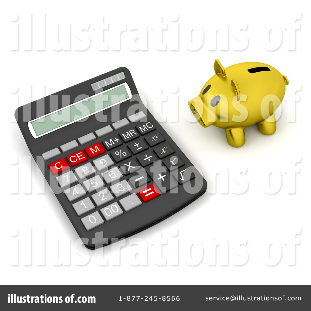 Calculator Clipart #46626 - Illustration by KJ Pargeter