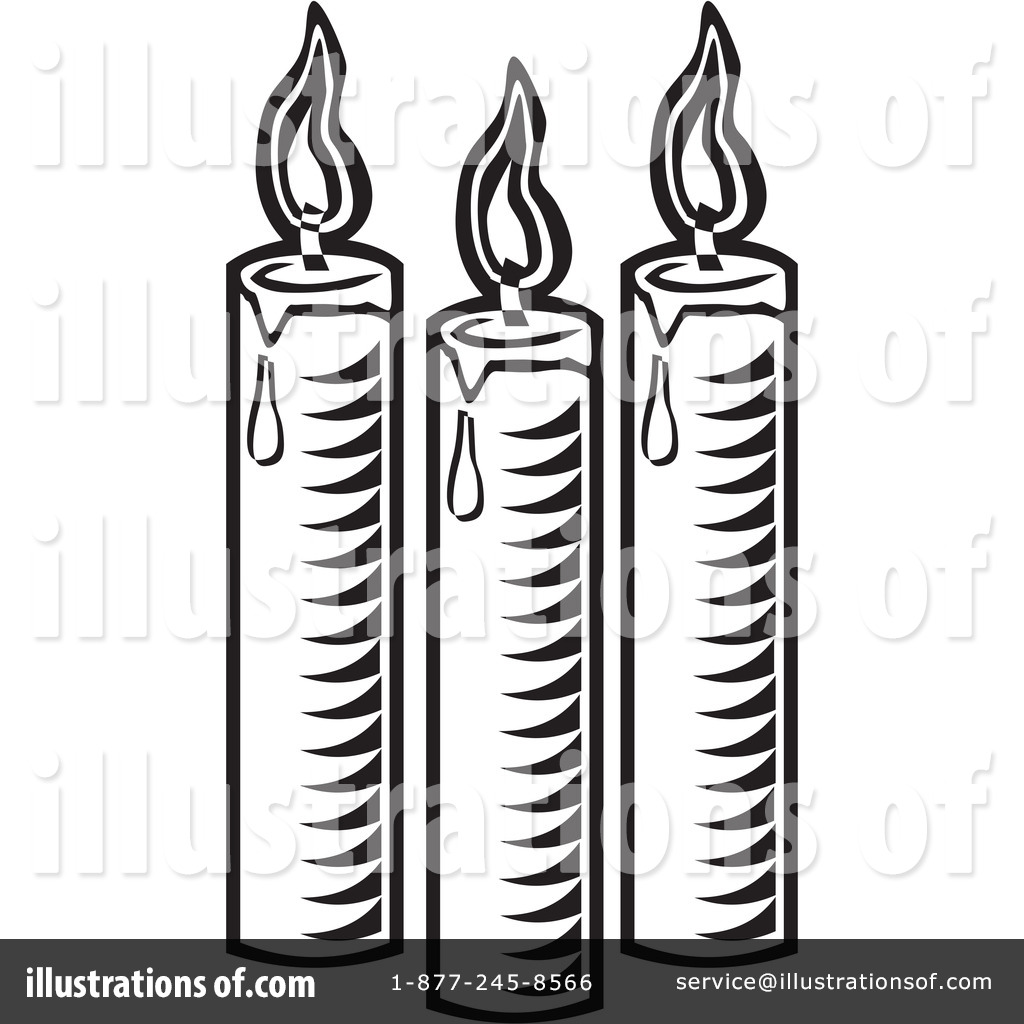 Candle Clipart #42204 - Illustration by David Rey for Candle Clip Art Black And White  579cpg