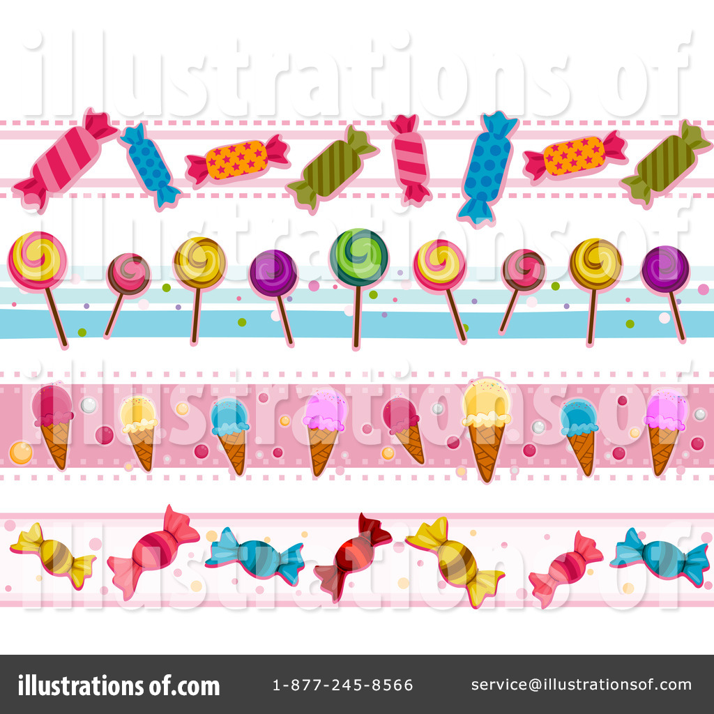Candy Bar Border Clip Art Candy clipart illustration