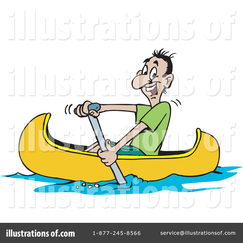 Royalty Free RF Canoe Clipart Illustration By Dennis Holmes Designs
