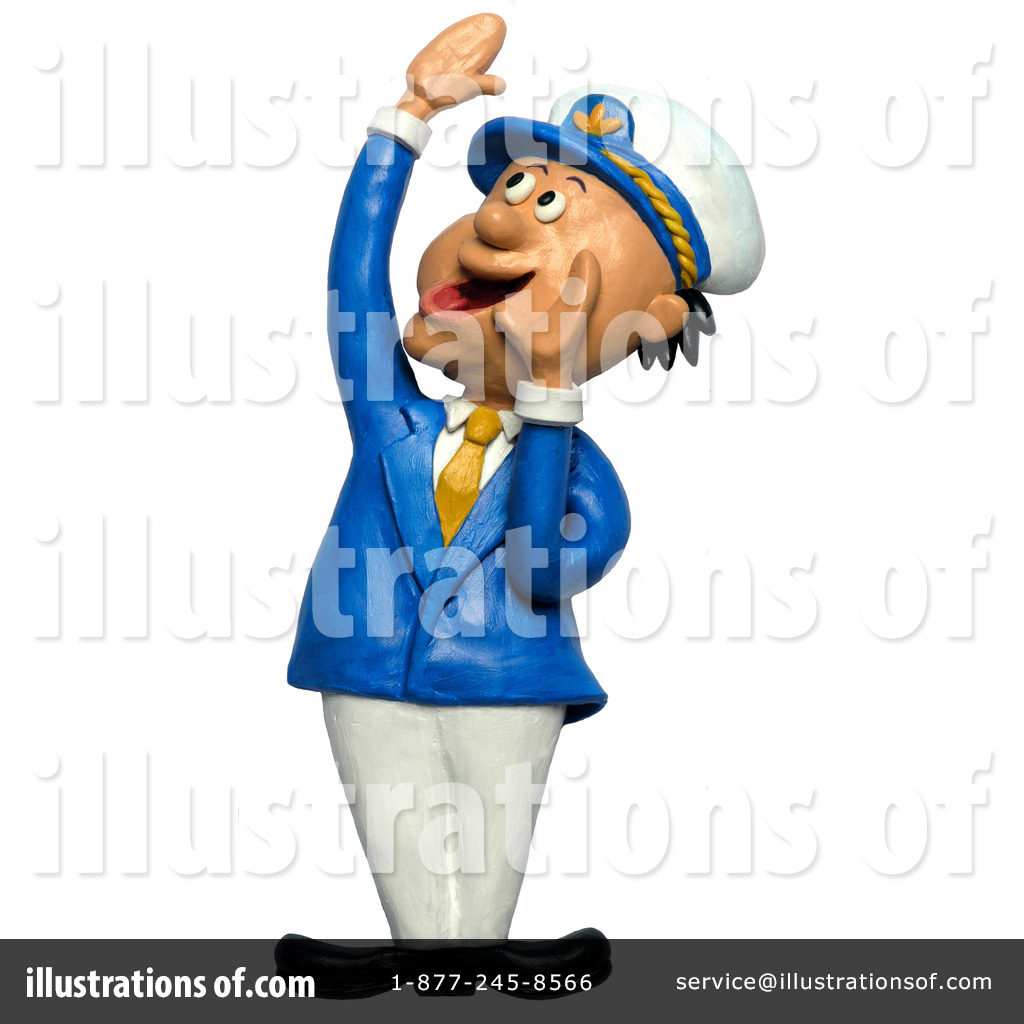 Captain Clipart #12063 - Illustration by Amy Vangsgard
