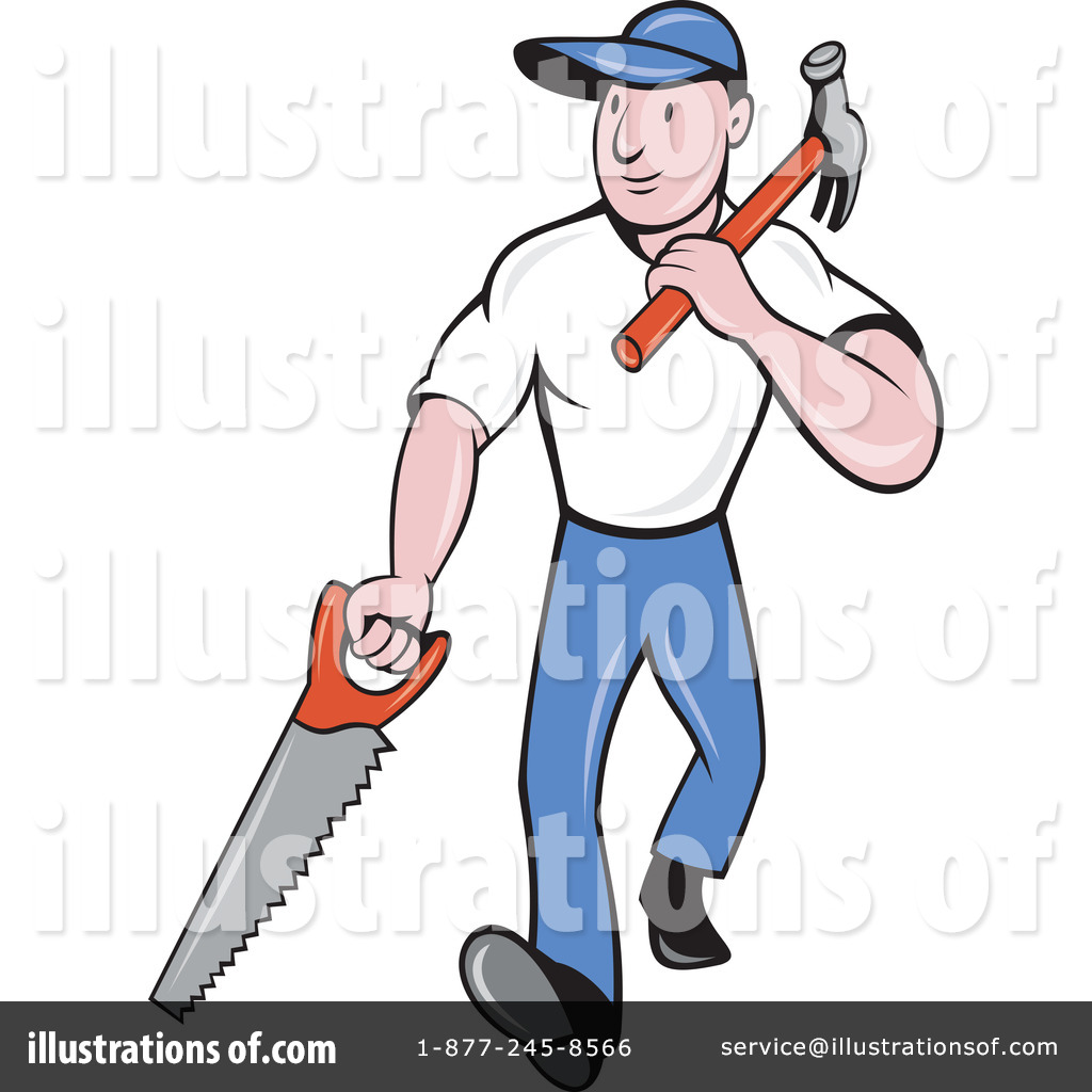 Carpenter Clipart #1065544 - Illustration by patrimonio
