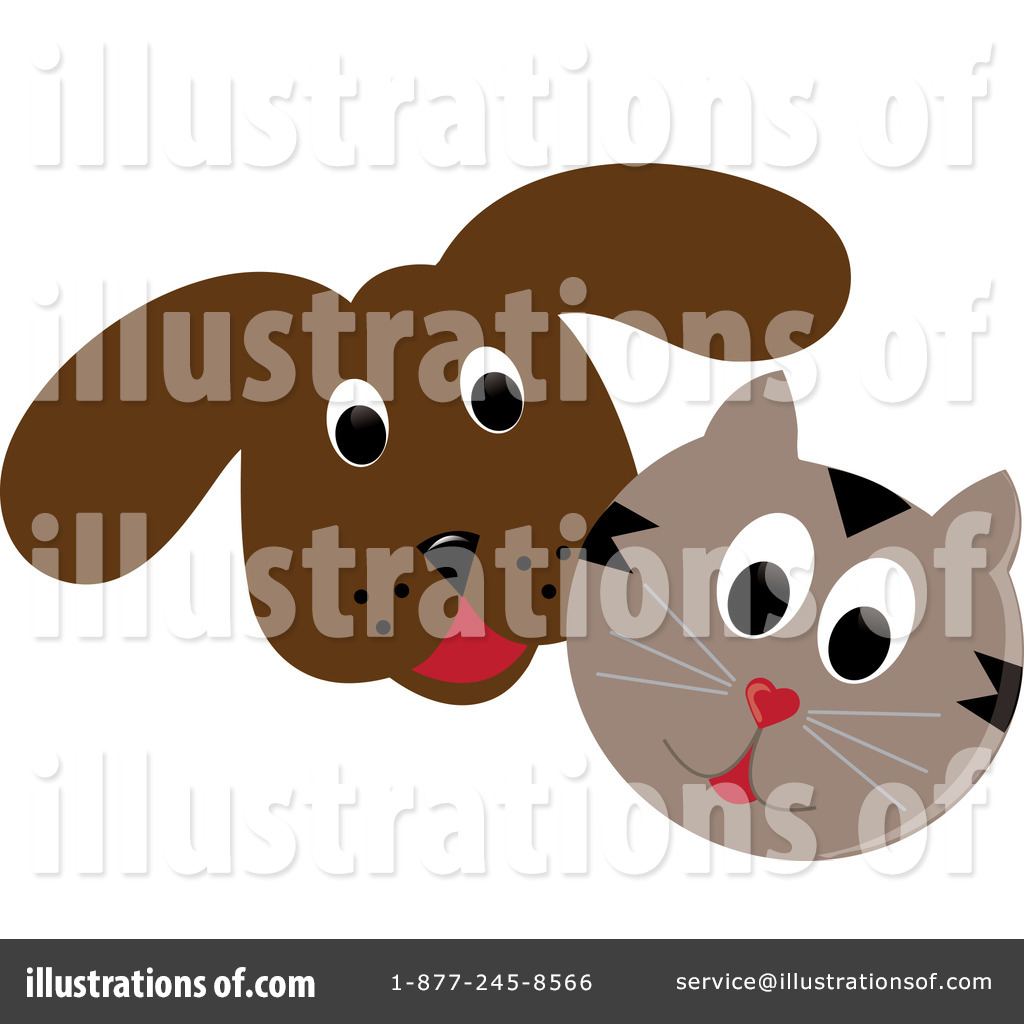 Royalty-Free (RF) Cat And Dog Clipart Illustration by Pams Clipart
