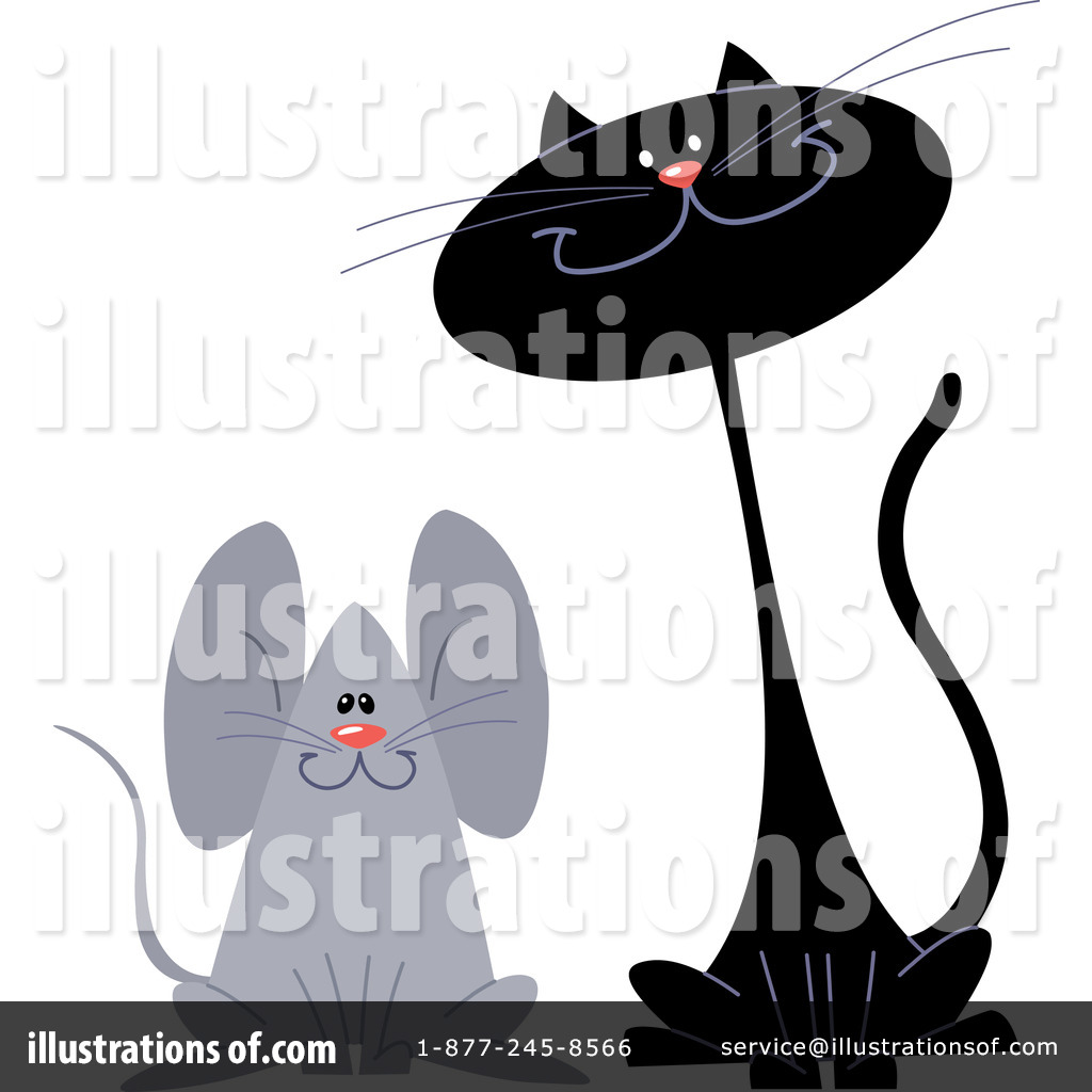 Cat And Mouse Clipart #1066391 - Illustration by yayayoyo