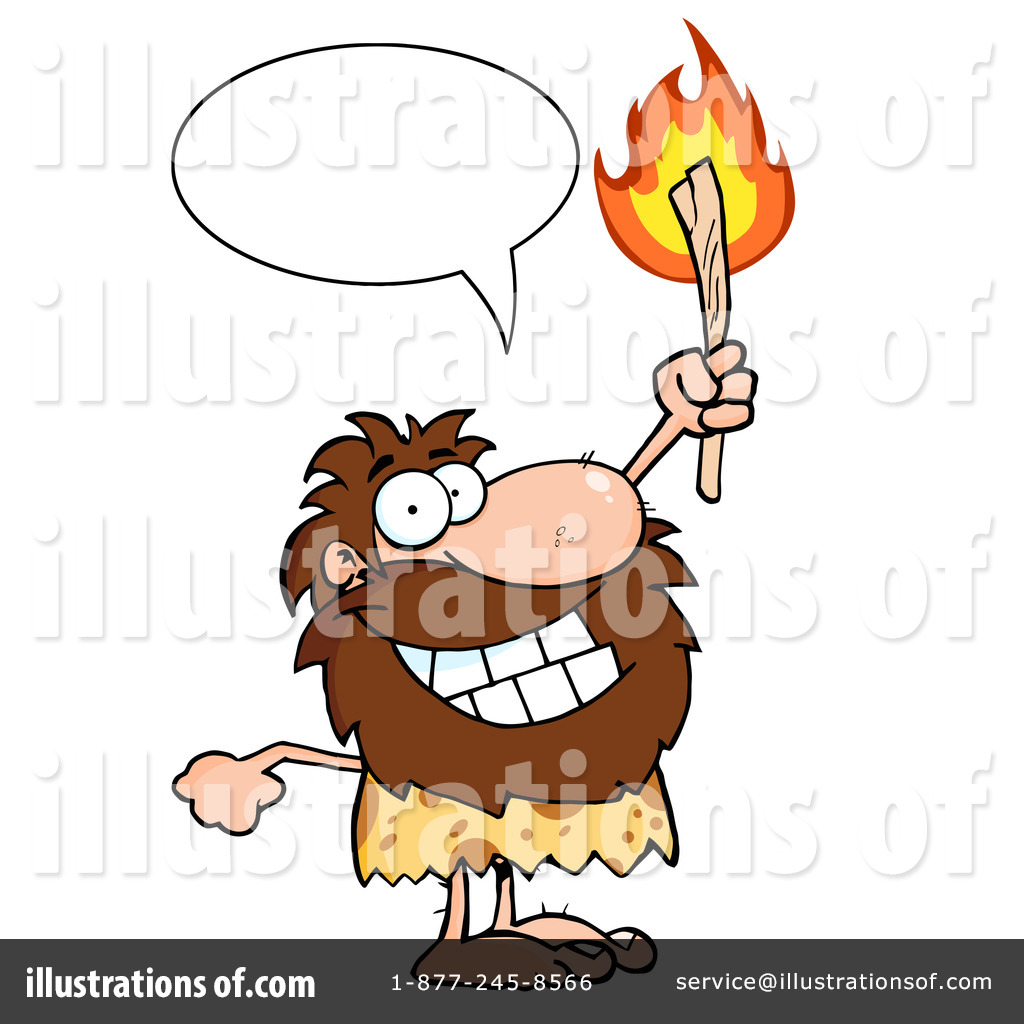 Caveman Clipart #1092087 - Illustration by Hit Toon