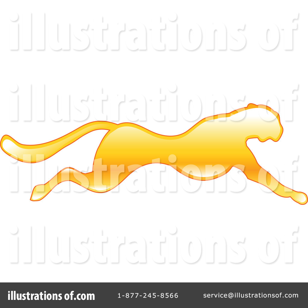 Cheetah Clipart #34462 - Illustration by AtStockIllustration