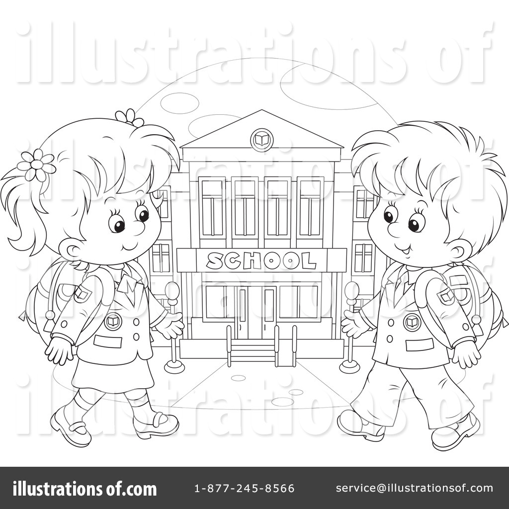 Раскраска ребёнок идёт в школу