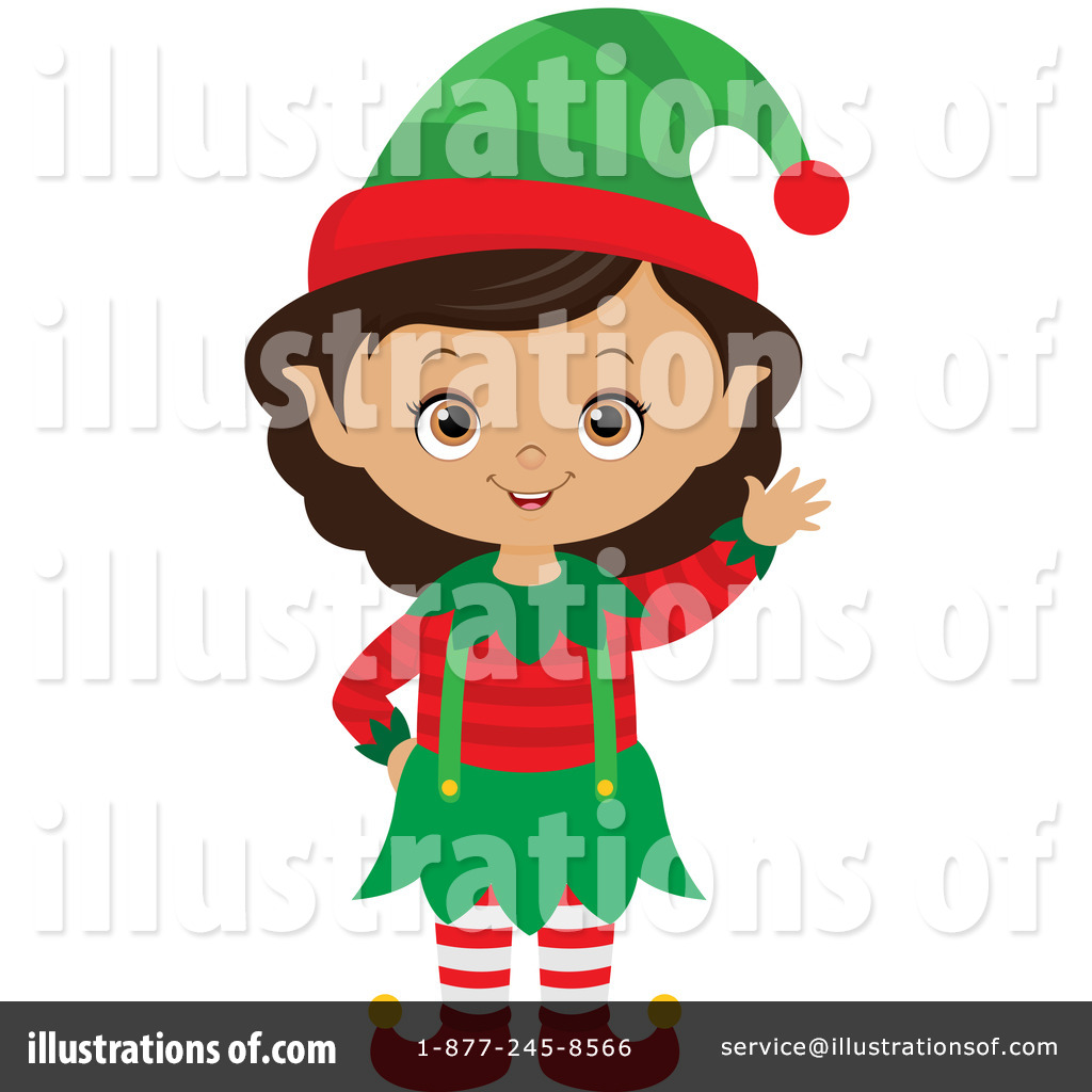 Christmas Elf Clipart #1269266 - Illustration by