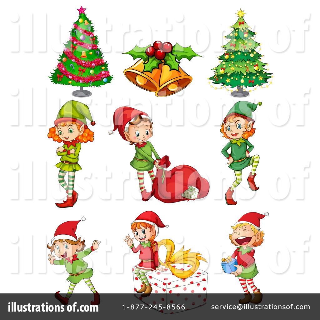 Christmas Elf Clipart #1266354 - Illustration by colematt