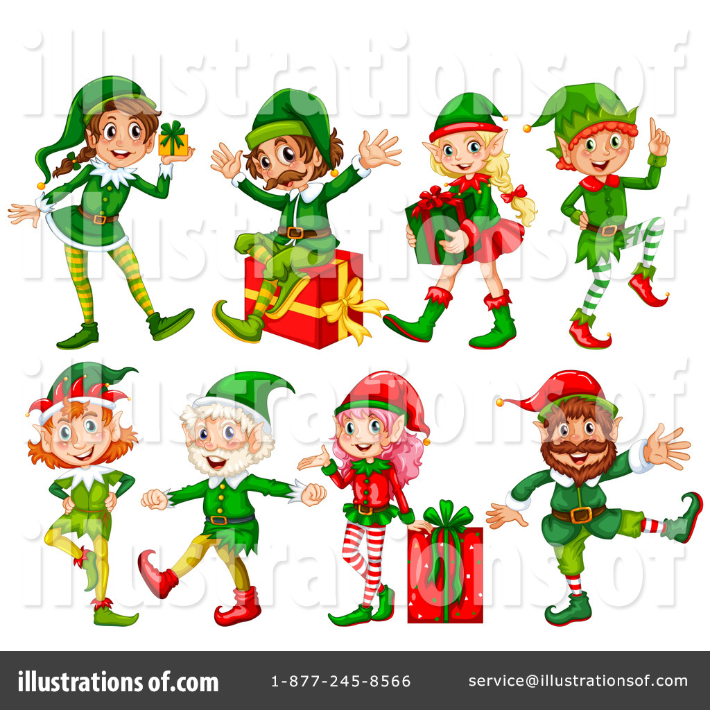 Royalty Free (RF) Christmas Elf Clipart Illustration By Graphics RF   Stock  Sample