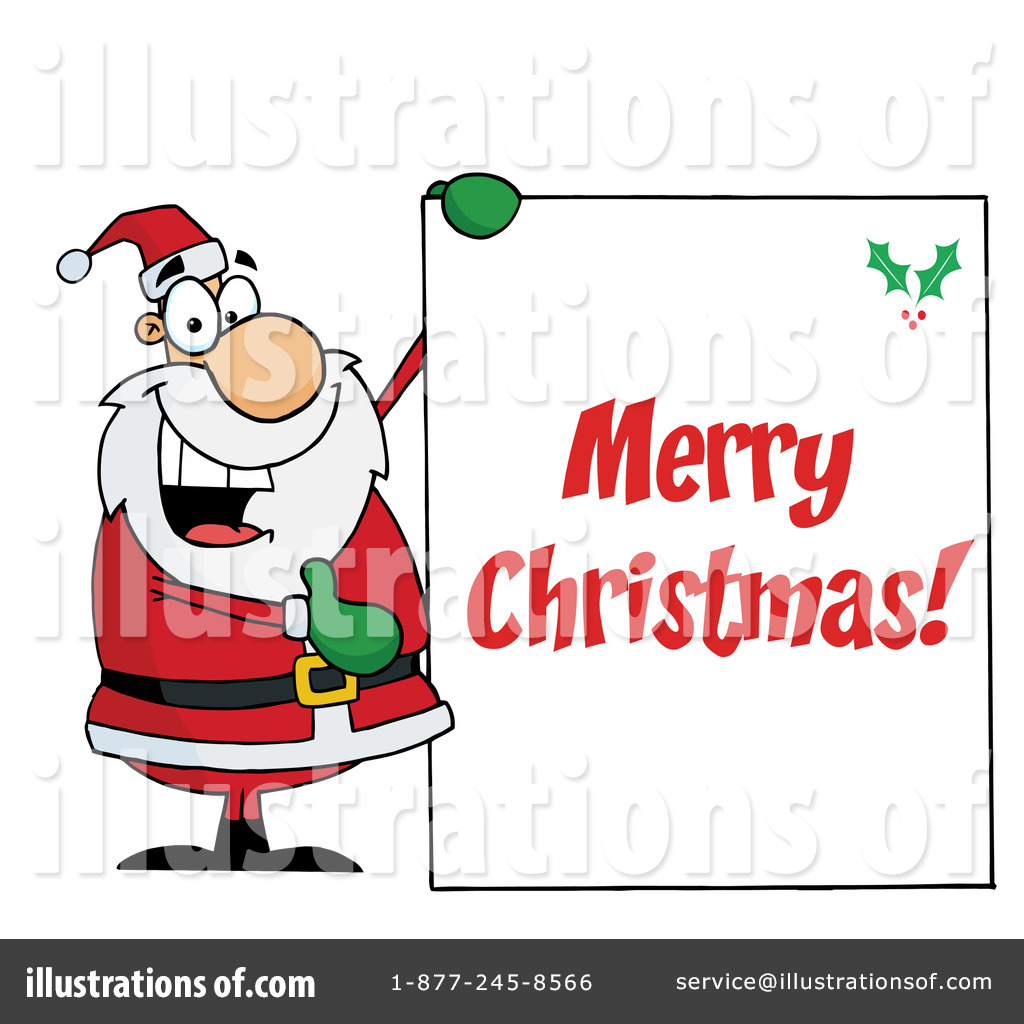 Christmas Greeting Clipart 101169 Illustration By Hit Toon